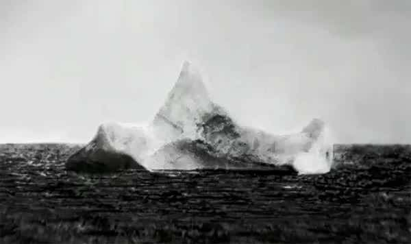 A possible photograph of the iceberg that sank Titanic