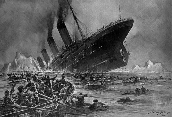 Der Untergang der Titanic (The Sinking of the Titanic), engraving by Willy Stöwer.