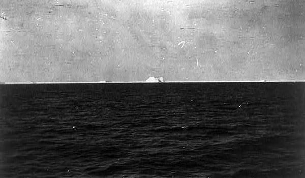 View of the iceberg from aboard the Carpathia