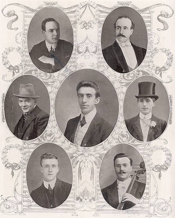The brave members of the Titanic orchestra, from The Illustrated London News, May 1912.