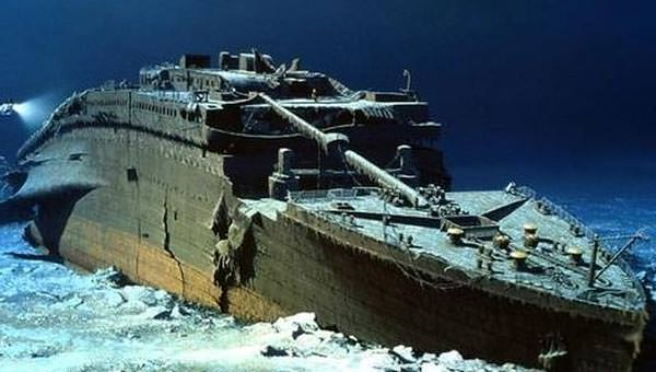 Image result for titanic on the ocean floor